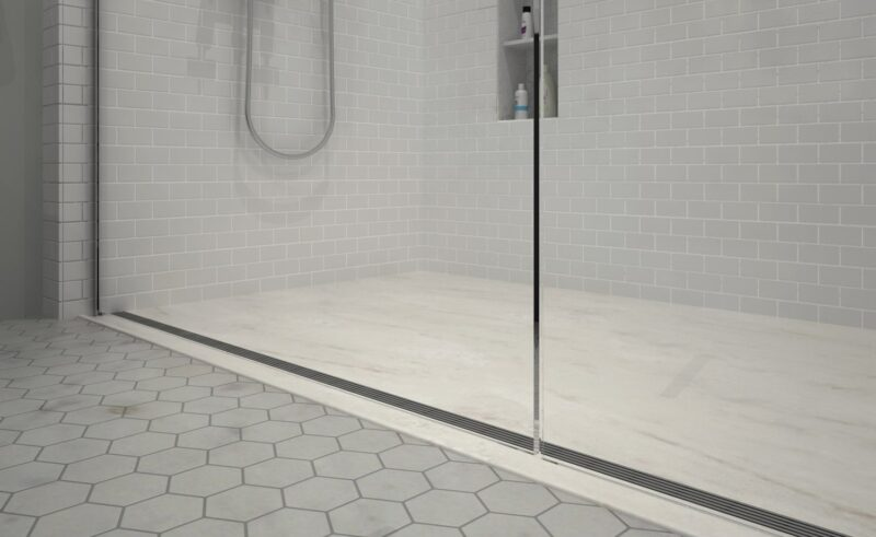 Curbless 3 Wall shower- Encompass Shower Bases