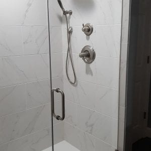 Encompass Shower Bases-3 Wall curbless shower