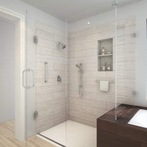 Open format bathroom- Encompass Shower Bases