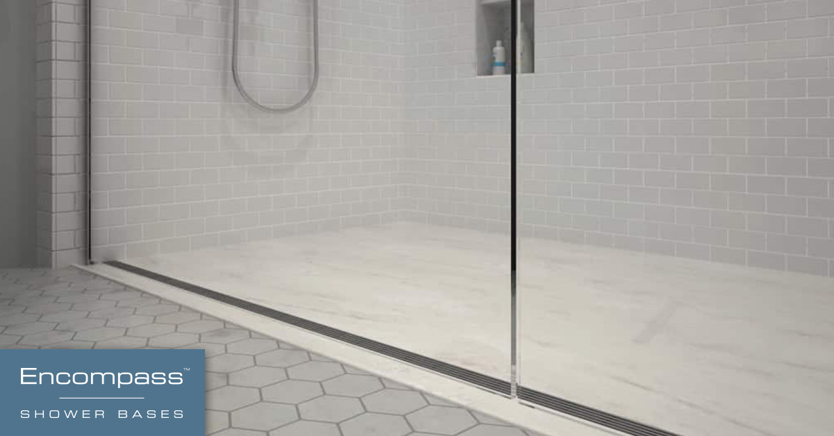 Custom Shower Base Walk In Shower Base Encompass Shower Bases