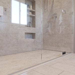 Curbless shower- Encompass Shower Bases
